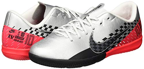 Nike Nike Jr. Mercurial Vapor 13 Academy Neymar Jr. Ic, Unisex Kid's Football Boots, Multicolour (Chrome/Black/Red Orbit/Platinum Tint 6), 3 UK (35.5 EU)
