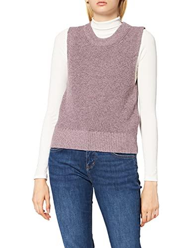 Only ONLPARIS Life Vest KNT Noos Chalecos suéteres, Ash RoseDetail:W. Melange, S para Mujer