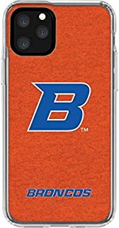 Skinit Clear Phone Case for iPhone 11 Pro - Officially Licensed College Boise State Logo Orange Design