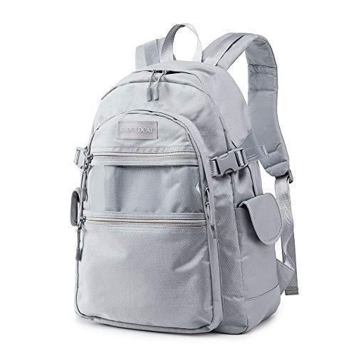 41KHKvfbboL - Joymoze Mochila de Viaje Impermeable y Grande Mochila para portátil de 15,6 Pulgadas para Hombre y Mujer Púrpura