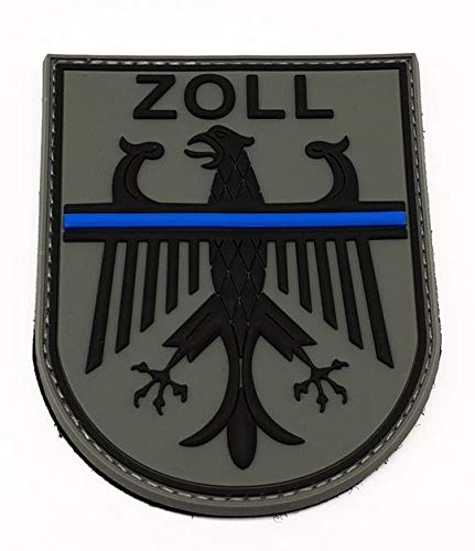 Polizeimemesshop Zoll Thin Blue Line Rubber Patch mit Klett