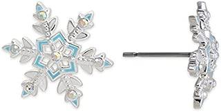 Disney Frozen Snowflake Earrings Silver-Plated Comes in Frozen Gift Box