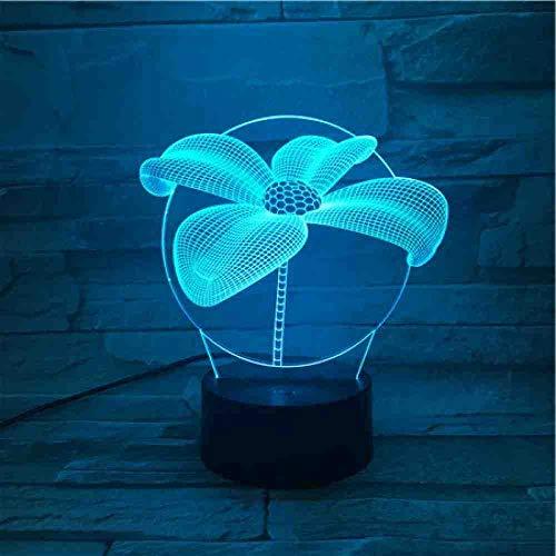RJGOPL vierkante klemmen LED-nachtlampje touch-sensor verlichting kinderen gift gadget tabel 3D lamp decor