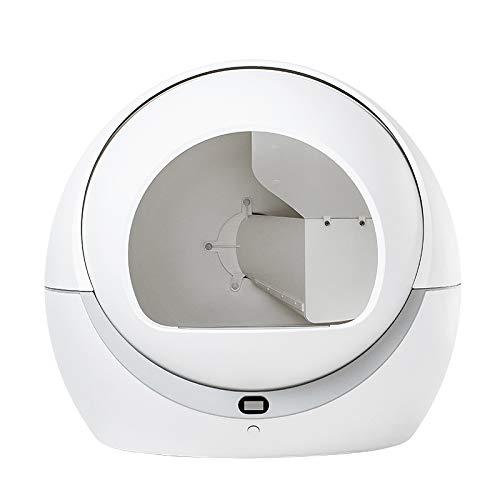 Petree - Lettiera per gatti, autopulente automatica, intelligente, antiodore, antipolvere, silenziosa, lettiera per gatti, facile da pulire, con interno chiuso