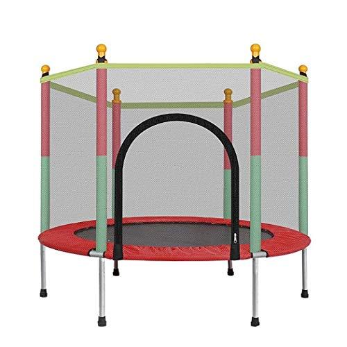 YUNZUN Trampolines, 5 FT Actividad de trampolín al Aire Libre Niños Recinto de 60'Colchoneta de Salto de Red y Relleno de Resorte Acolchado, Red de Seguridad para Cama elástica de jardín