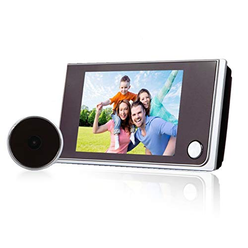 Kafuty 3,5'' Spioncino Digitale per Porte - Campanello Video HD a Vissual 120° Telecamera Grandangolare per Anziani/Bambini Telecamera Monitor 24H per Sicurezza Domestica