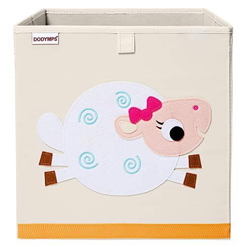 DODYMPS Foldable Animal Toy Storage Bins/Cube/Box/Chest/Organizer for Kids & Nursery, 13 inch (Sheep)