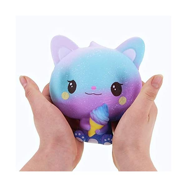 QAES Lovely Squishies, Kawaii Ice Cream Cat Penguin Unicorn Squishy, Creamy Aroma Slow Rising Squeeze Toys for Boys and Girls Gifts Soft Toy (Color : 10x10 cm) 9