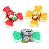 APORAKE 3PCS Suction Toys, Spinning Tops Toy, Spin Sucker Spinner Toys, Kid Bath Toys, Bathtub Toys, Fidget Spinner Pack for Baby/Toddler (Animals)
