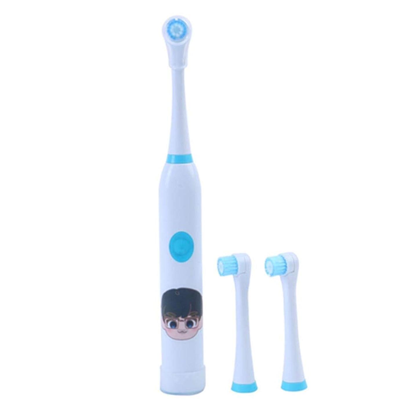 耐久性のある子供用電動歯ブラシUSB充電式ホワイトニング歯ブラシ歯科医推奨 完璧な旅の道連れ (色 : 青, サイズ : Free size)