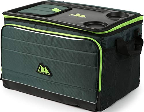 """Arctic Zone 50 Can Ultimate Tabletop Cooler, Green, (L x W x H"""") 17 x 11.75 x 11"""