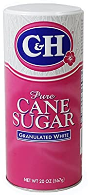 C&H Pure Cane Granulated Sugar, 20 Oz Easy Pour Reclosable Top Canister