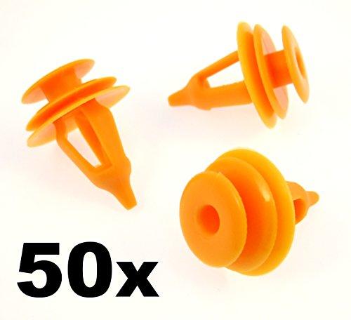 Lot de 50 clips de fixation en plastique pour cartes de porte (67771-30090, 67771-17030, 67771-28030, 6777130090, 6777117030, 6777128030)