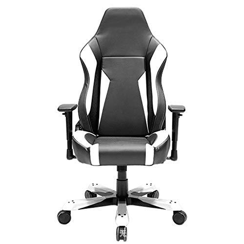 NgMik Gaming Chair Gaming Chair High Back Racing Stil Executive-Computer-Spiel-Bürostuhl mit Verstellbarer Armlehne Ergonomischer Bürostuhl (Color : White, Size