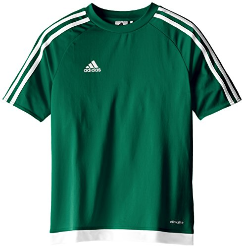 adidas Estro 15 JSY - Camiseta para hombre, color verde opalo / blanco, talla M