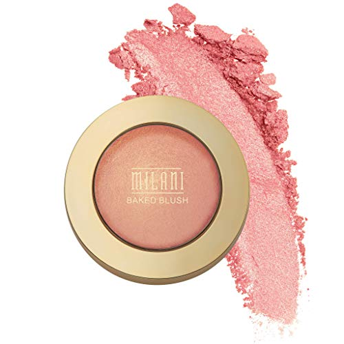 Milani Baked Blush - Bella Bellini (0.12 Ounce) Vegan, Cruelty-Free Powder Blush - Shape, Contour & Highlight Face for a Shimmery or Matte Finish