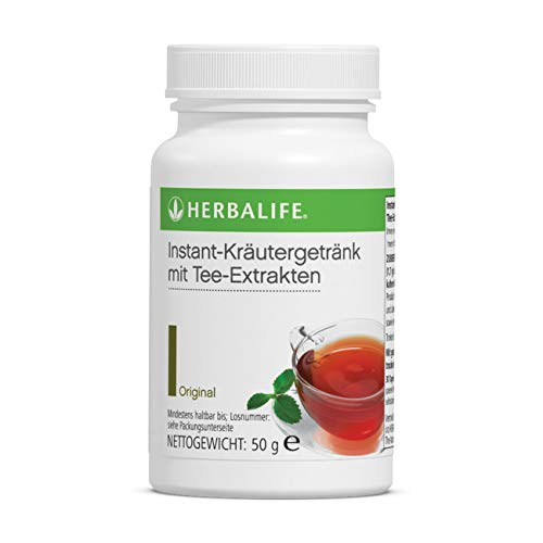 HERBALIFE Koffeinhaltiges Instant-Kraeutergetraenk mit Tee-Extrakten - original Grüntee - 50g