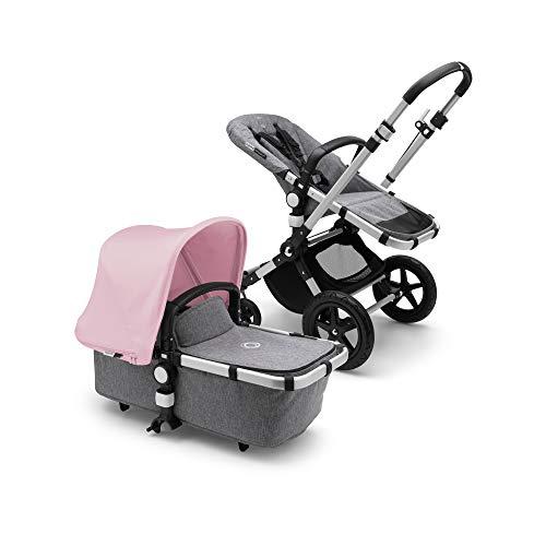 Bugaboo Cameleon3 Plus Complete Stroller, Alu/Grey Melange/Soft Pink -...