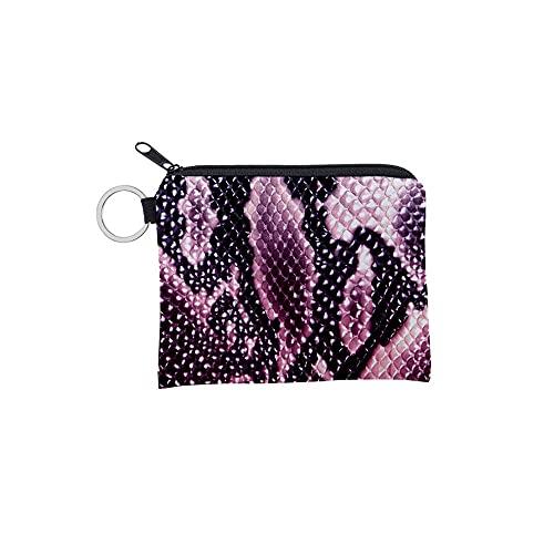 FEINENGSHUAInsqb Bolso Monedero, Modelo de Mujer, Impermeable, tamaño pequeño, fácil de Transportar, con impresión Exquisita (Color : Purple)