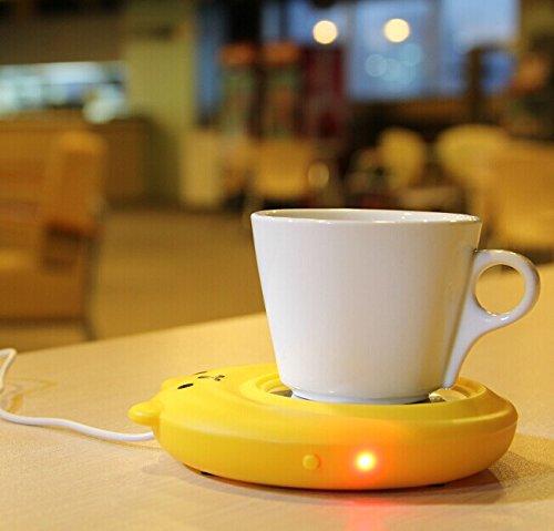 E-Bro New Bear Portable USB Electronic Warmer Coffee Milk Tea Cup Heating Pad Plate (Yellow)