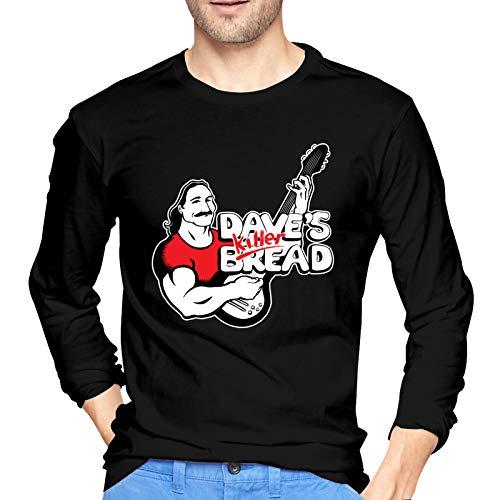 WHFUDSHF Dave's-Killer-Bread Men's Ultra Cotton Long Sleeve T-Shirts Classic Graphic Tee Active T-Shirt XL Black
