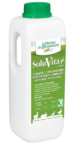 FERME DE BEAUMONT SoluVita Plus 1 litre - Vitamines liquide concentré volailles
