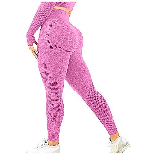2021 Nuevo Mujer Leggings Pantalones, Elásticos Yoga Mallas de Bolsillo Color sólido Alta Cintura Basic Cómodo Pantalones Largo sin Costura Fitness Gym Slim Fit Pant Deportivos Jogging Pantalon