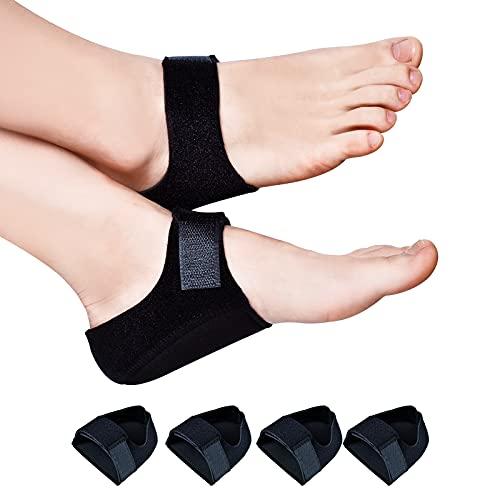 pure heel cups Heel Cushion, (4PCS) Gel Heel Cups for Heel Pain Plantar Fasciitis, Heel Pads Great for Aching Feet,Tendinitis, Bone spur, Cracked Heel Repair,for Men & Women