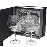 la galaica | Set de 2 Copas de Cristal para Gin&Tonic | Talladas a Mano | Colección Gin 820. Ideales para Regalar a Amigos y Familiares en Bodas y Eventos