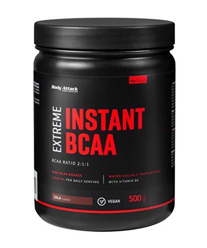 Body Attack Extreme Instant BCAA Powder, cola, 500g para 38 batidos con...