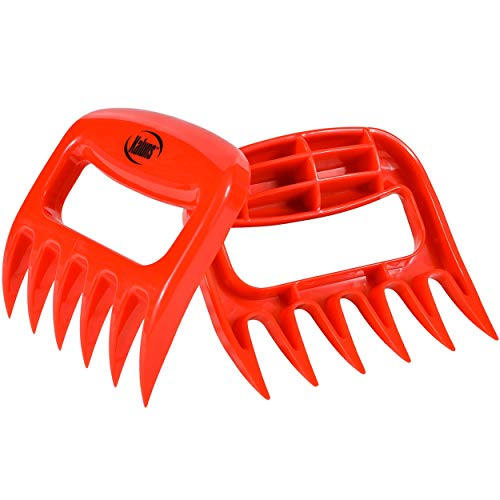 Kaluns Meat Shredder Shredder, Easy Lift Handle, Pull, Cut, and Shred Meat, Ultra-Sharp Plastic Blades, BPA Free, Dishwasher Safe (Red)