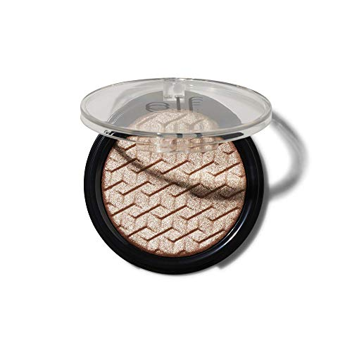 e.l.f, Metallic Flare Highlighter, Versatile, Jelly-like Formula, Multi-Dimensional, Buttery Soft, Creates a High-Luster, High Shimmer Glow, Rose Gold, Applies Wet or Creamy, 0.18 Oz