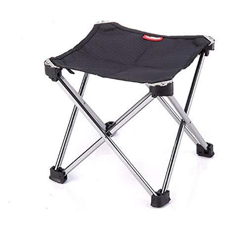 lem Hocker Tragbare Klapp Camping Hocker Leichte Rahmen Hocker Stuhl Outdoor Camping Wandern Bergsteigen + Plattfüße Stabilität und Tragetasche