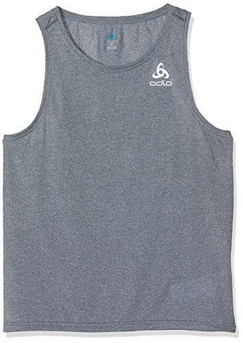 Odlo Herren BL TOP V-Neck Tank Millennium Element Shirt, Dark Slate Melange, L