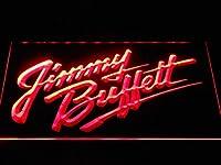 Jimmy Buffett Wordmark LED看板 ネオンサイン ライト 電飾 広告用標識 W30cm x H20cm レッド