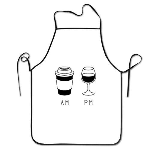 QUEMIN Delantales para mujeres y hombres, delantal de cocina para chef, delantal ajustable para café y vino, para cocinar, servir, 20.4 x 28.3 pulgadas