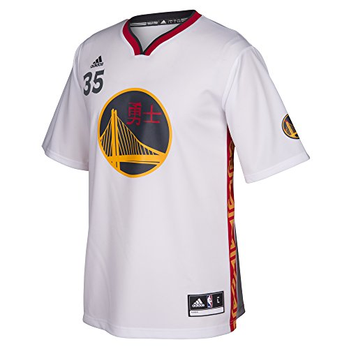 NBA Golden State Warriors Kevin Durant #35 Men's Replica Jersey, Small, White