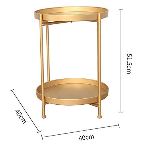 CAGYMJ Bijzettafel, softafel, eenvoudige koffietafel, eenvoudig te monteren, opbergruimte voor woonkamertafel, dubbellaags opbergkast