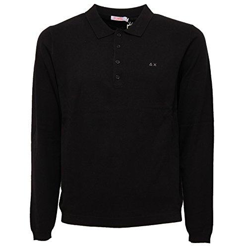 SUN 68 6328W Maglione Polo Uomo Black Wool/Cotton Sweater Men [L]