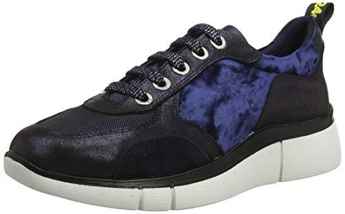 24 HORAS 24307, Zapatos Cordones Brogue Mujer, Azul