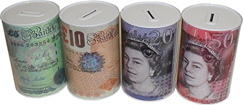 MONEY BOX Tin, Tinplate, Multi-colour, 15 x 10 x 10 cm