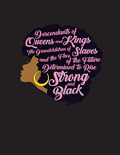 Descendants Of Queens And Kings Black Girl Magic African Queen Natural Hair Diva Afro African Queen Melanin Gift Word Art 2019 Calendar Weekly