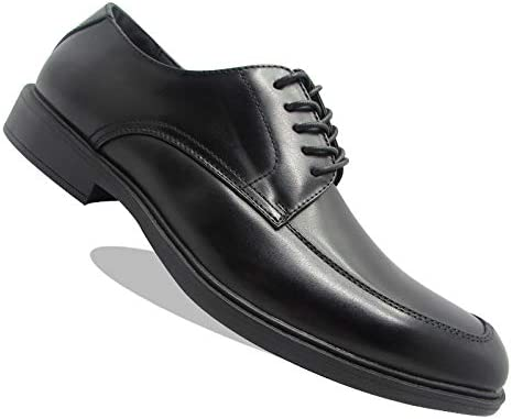 Stylish & Comfort Shoes Men's Lace Up Wing Tip Black Leather Oxfords Classic Dress Shoes