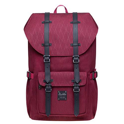 KAUKKO Zaino in nylon per Computer Portatile da 15', Casual retrò Viaggi Trekking Backpack