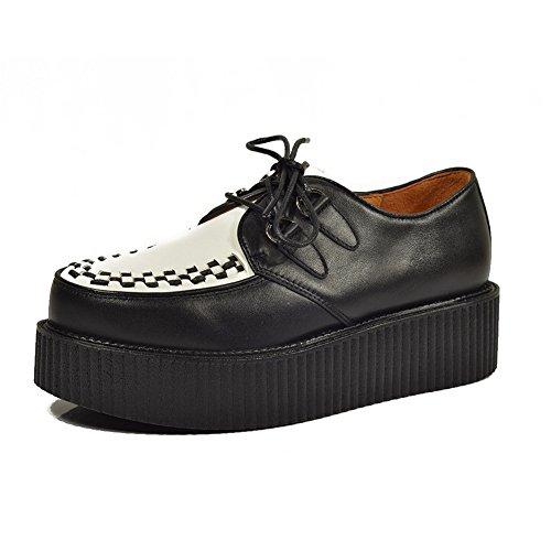 Cuero Zapatos Para Hombre Cordones Plataforma Oxfords Gótico Punk Creepers