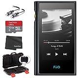 FiiO M9 Portable High-Resolution Lossless Wireless Music Player (Black) + microSDHC 32GB Card + Memory Card Hardcase + Stereo Cable (Black)