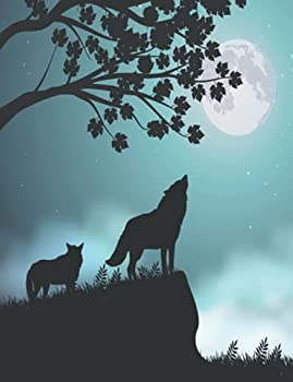 Wolf Composition Notebook Wide Ruled  Lined Student Exercise Book  Wolves