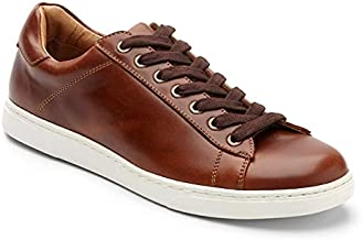 Vionic Men's Mott Baldwin Lace-up Sneaker - Casual Everyday Shoes for Men with Concealed Orthotic Support Dark Brown 11.5 Medium US