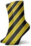 Love girl Rayas negras amarillas Textura Calcetines transpirables Calcetines deportivos de algodón de 30 cm para hombres, mujeres, niños
