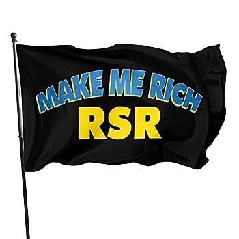 Make Me Rich RSR Coin RSR Flag 3x5 FT Outdoor Indoor Decor- Polyester